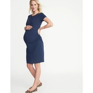 Old Navy Maternity Blue Short Sleeve Fitted Dress